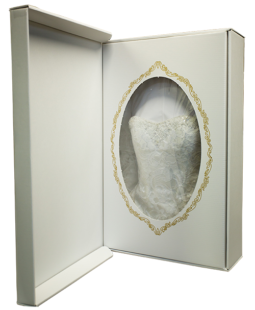 Preserved Wedding Gown Properly Packed In Archival Box At Omaha Lace Cleaners