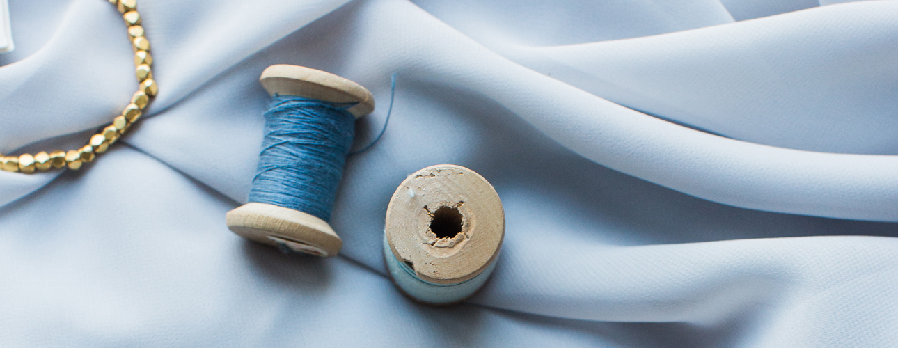 Romantic Blue Ribbon for Omaha Lace Cleaners About Us Page