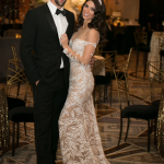 Nicole Phelps in a Julie Vino wedding Gown