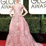 Lily Collins in a Zuhair Murad Couture dress and Harry Winston jewelry