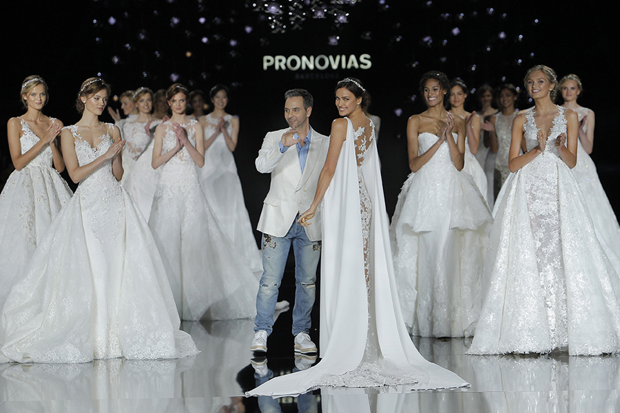 Pronovias Barcelona Bridal Show Final Shot with Designer