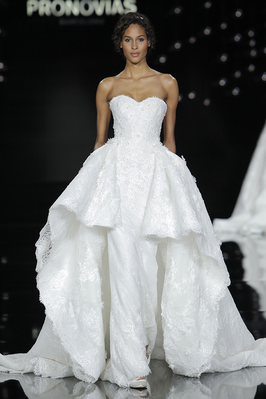 Pronovias Gown Nancy modeled by Cindy Bruna