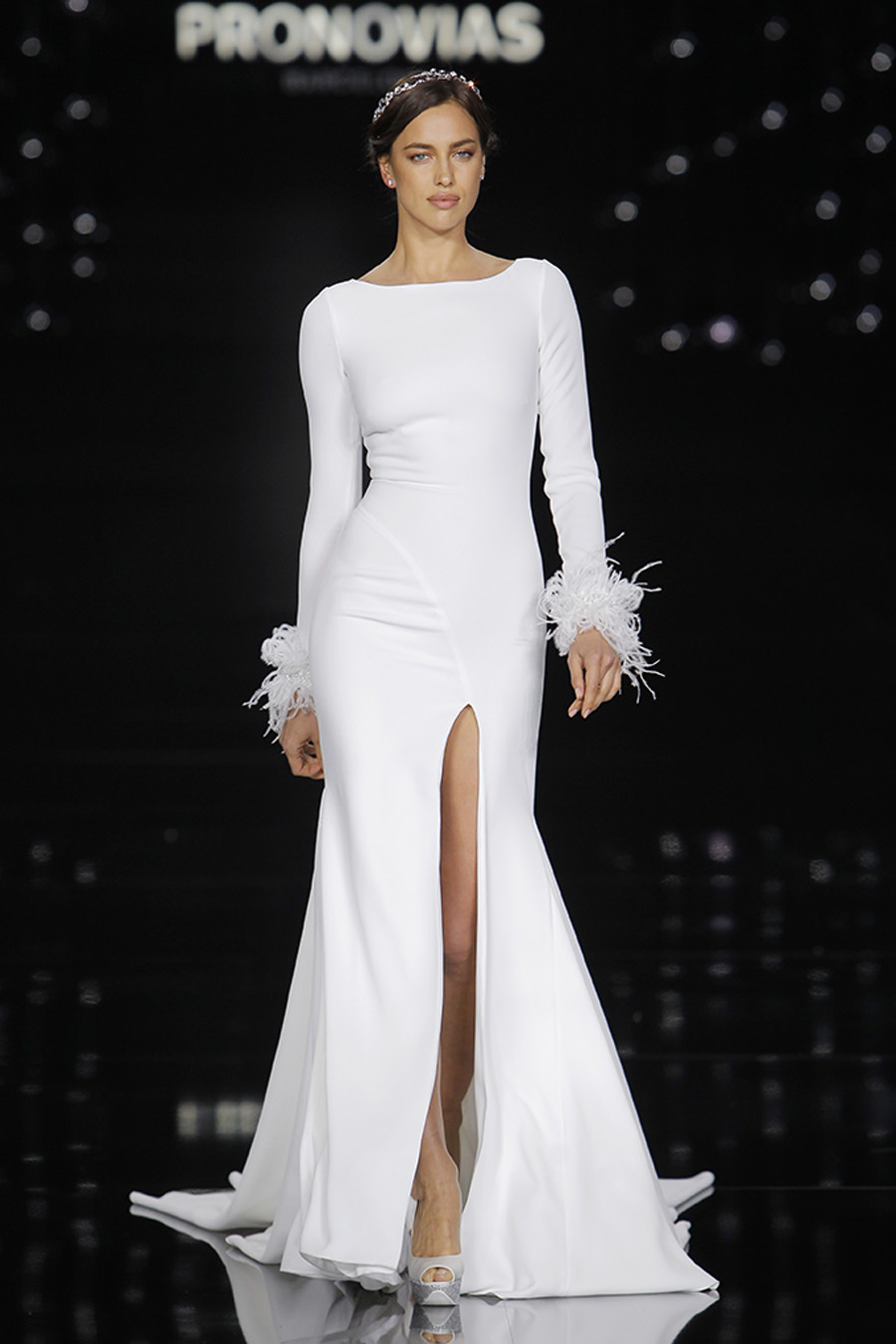 Pronovias Gown Nuria modeled by Irina Shayk