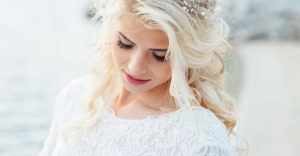 blonde bride for Omaha Lace Cleaners Newsletter Sign Up