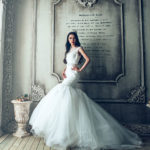 Beautiful Bride in trumpet style wedding gown for wedding gown shopping guide