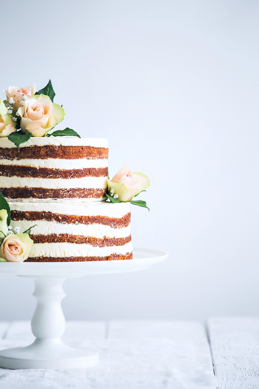 Simple Icing Wedding Cake