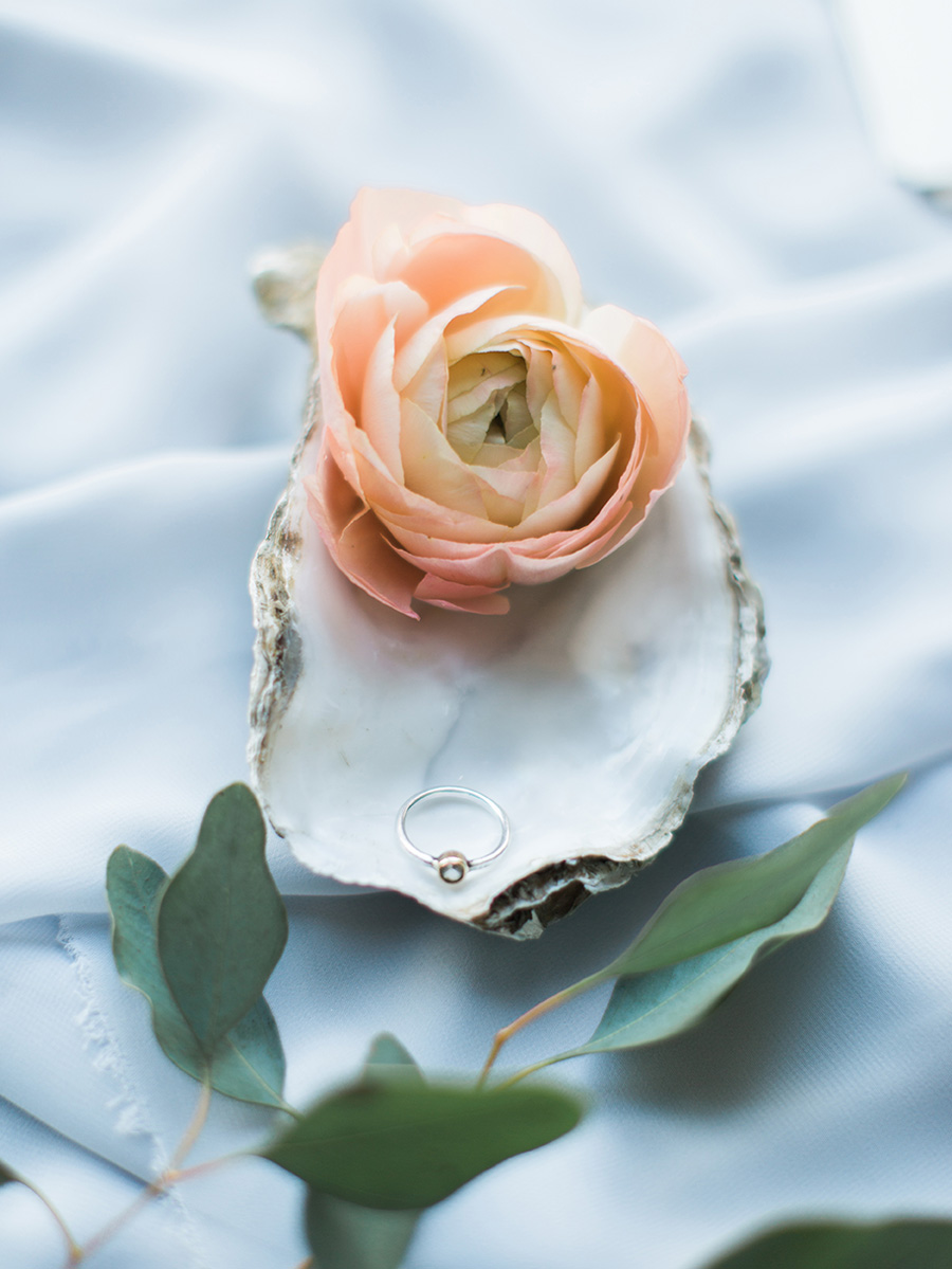 Peach, Periwinkle and Gold Wedding Inspiration