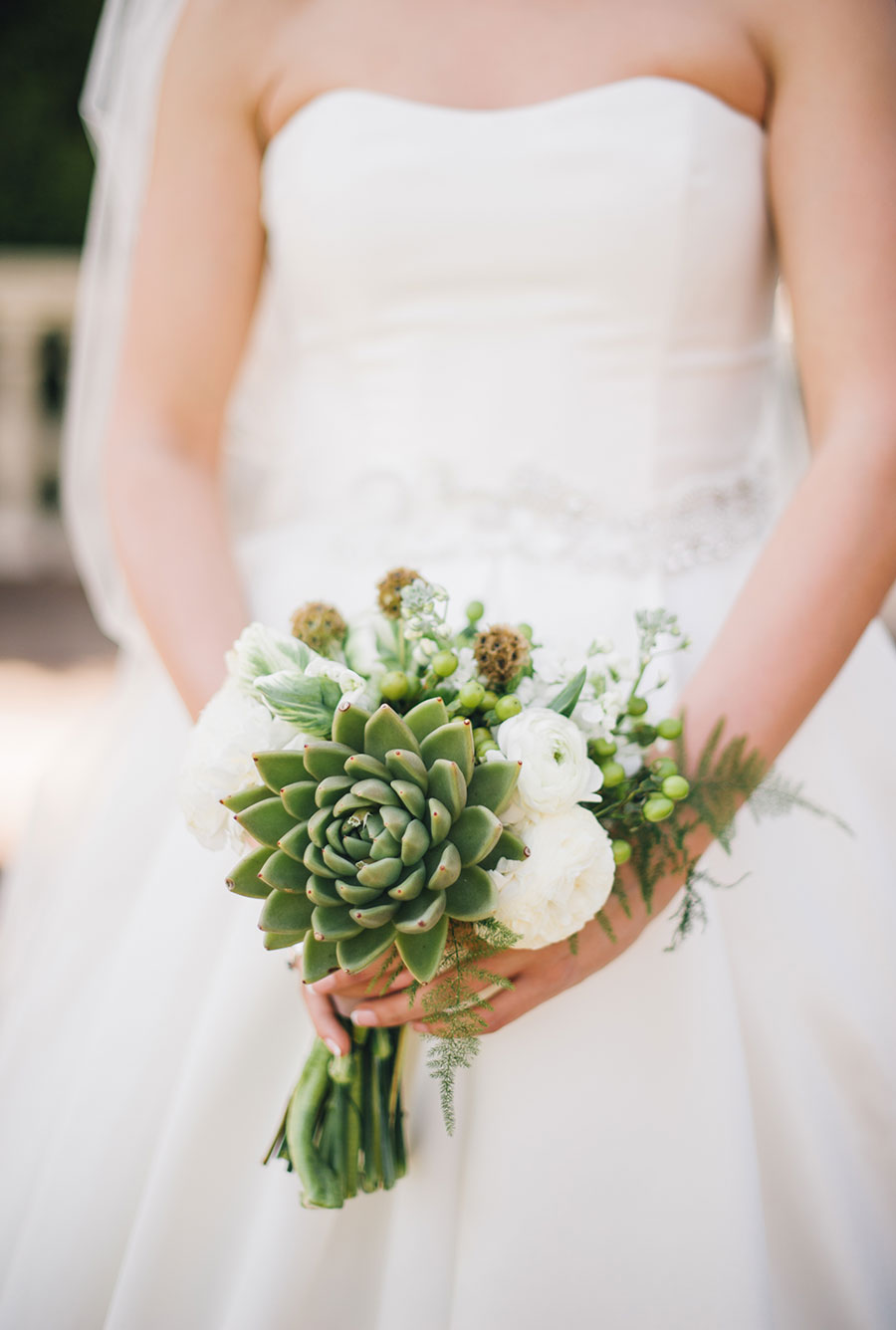 Small Succulent Wedding Bouquet