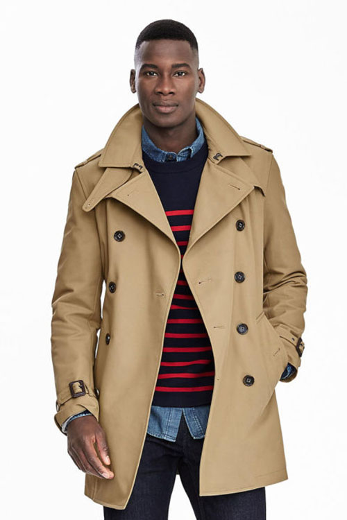 Spring Jacket Fashion Inspiration Man's classic trench coat