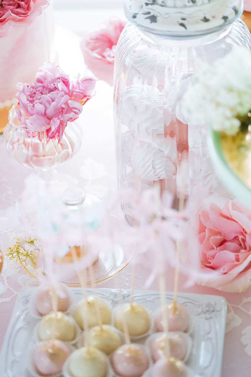 Pretty Pastel Wedding Inspiration - pastel cake pops on a treat table