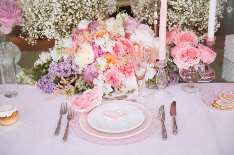 Pretty Pastel Wedding Inspiration - pastel wedding table setting