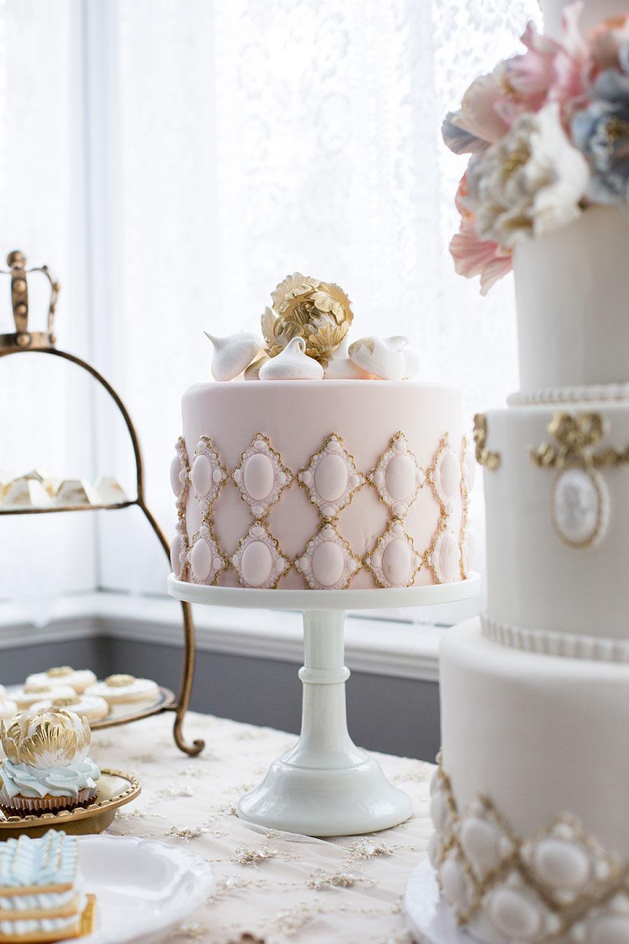 Elegant Blue, Pink and Gold Wedding Inspiration -7