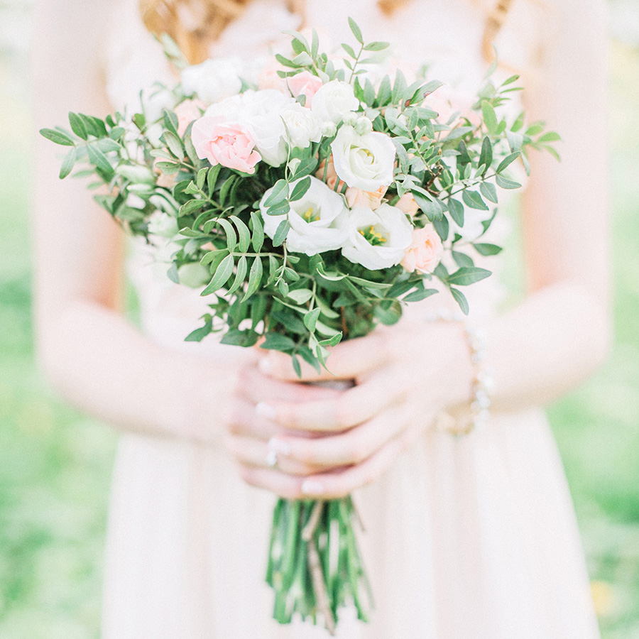 Summer Wedding Bouquet - simple pink posey