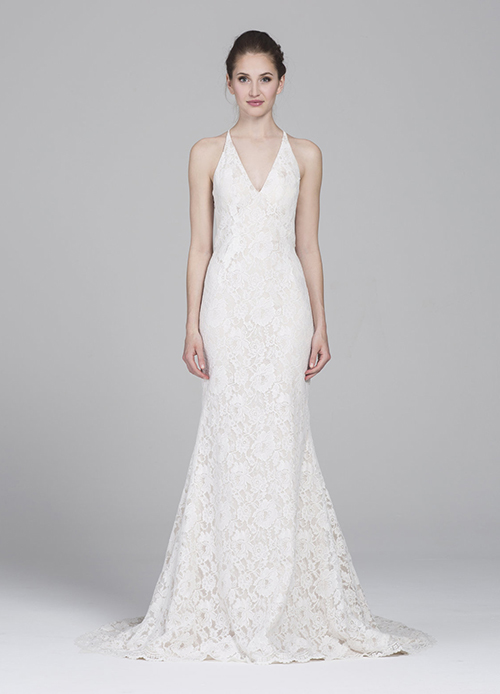 Chantilly Lace on a Kelly Faetanini Gown
