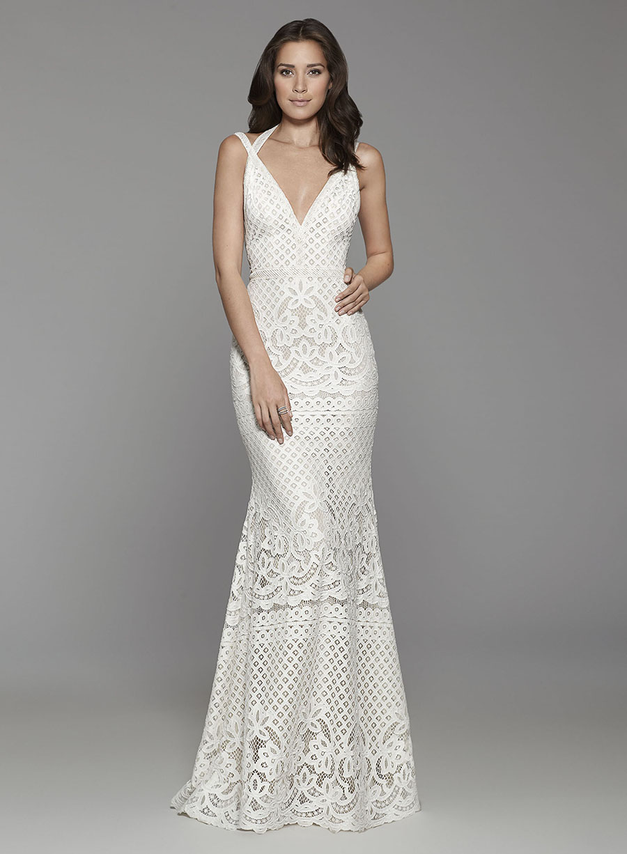 Guipure Lace gown Tara Keely