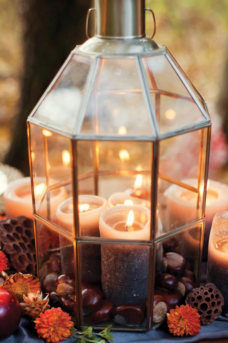 Fall Wedding Inspiration Lantern