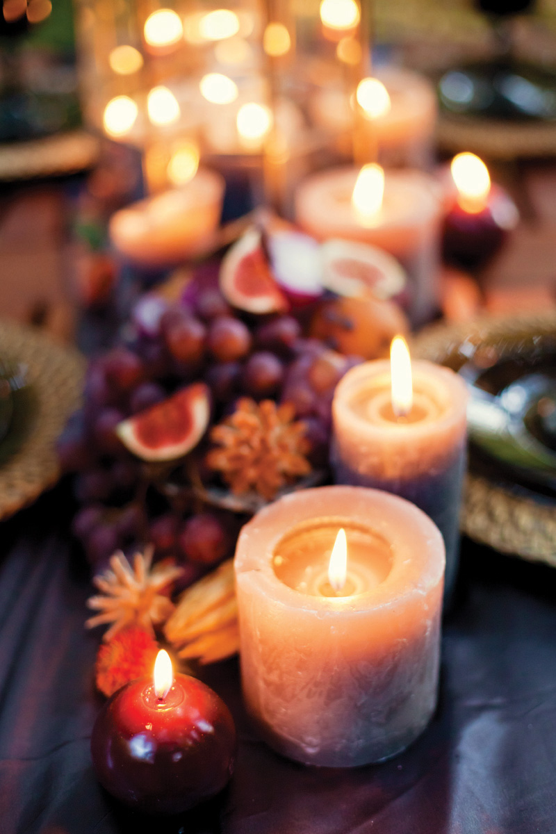 Fall Wedding Inspiration Candles