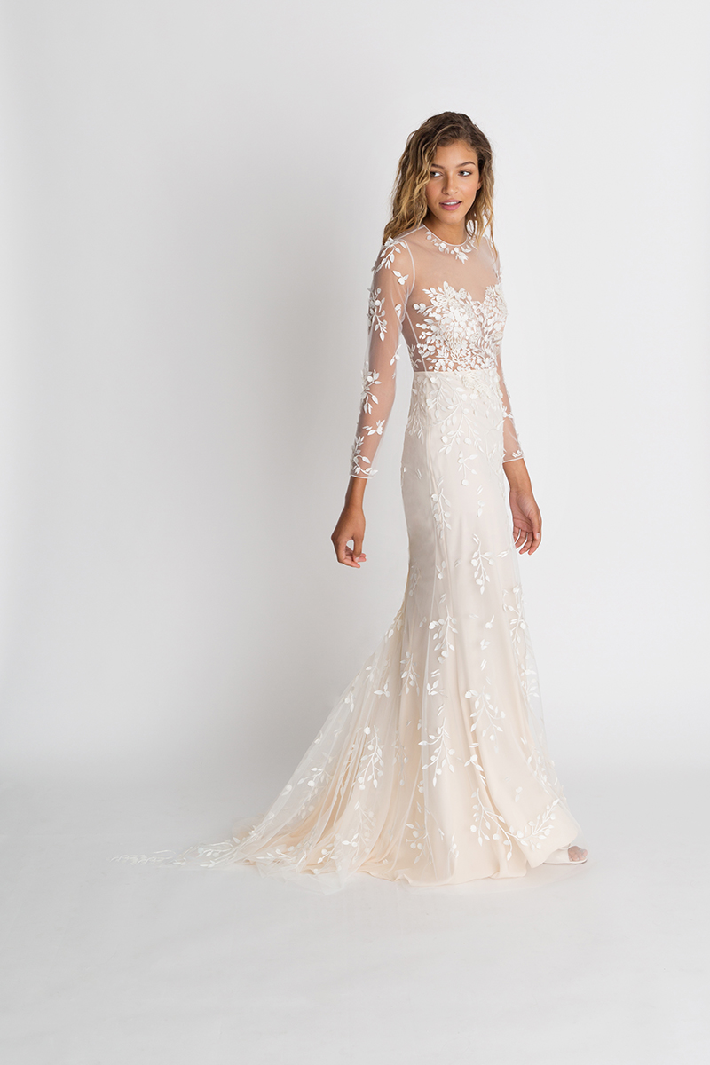 Alexandra Grecco Gown with Long Sleeves