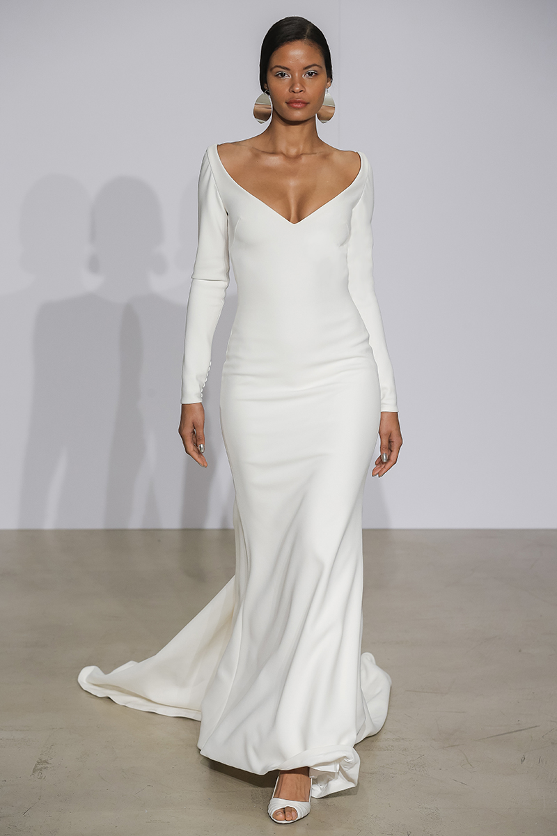 Justin Alexander Gown with Long Sleeves