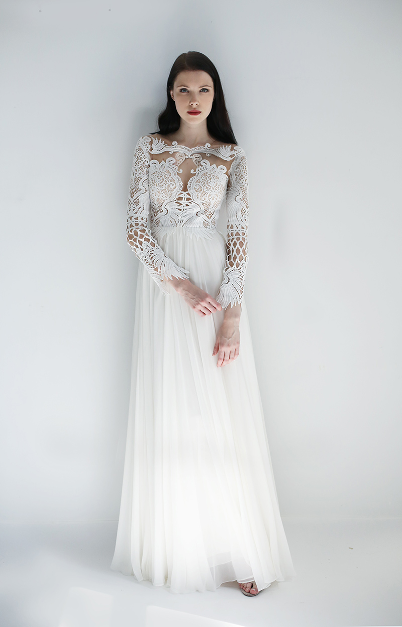 Leanne Marshall gown with Long Sleeves