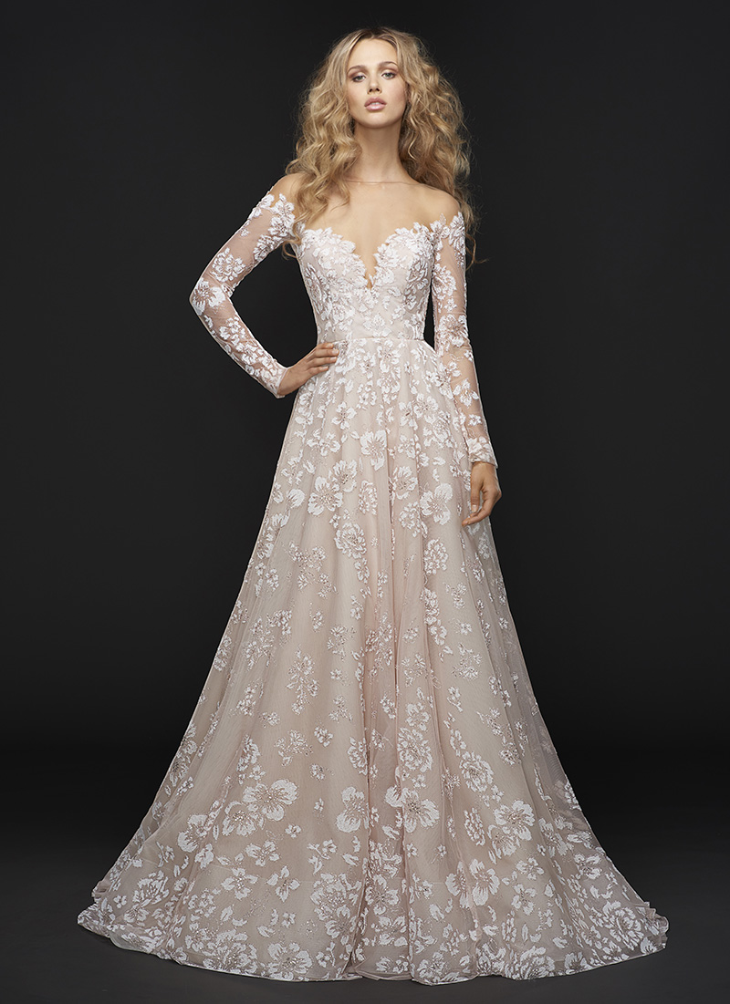 Hayley Paige Gown with Long Sleeves