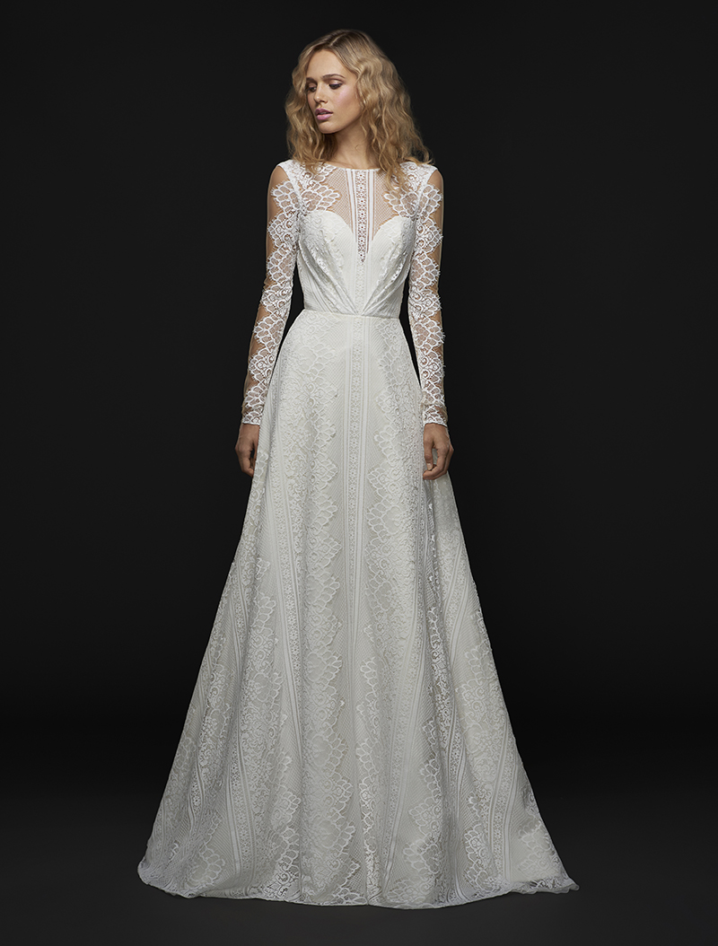 Blush By Hayley Paige Gown with Long Sleeves