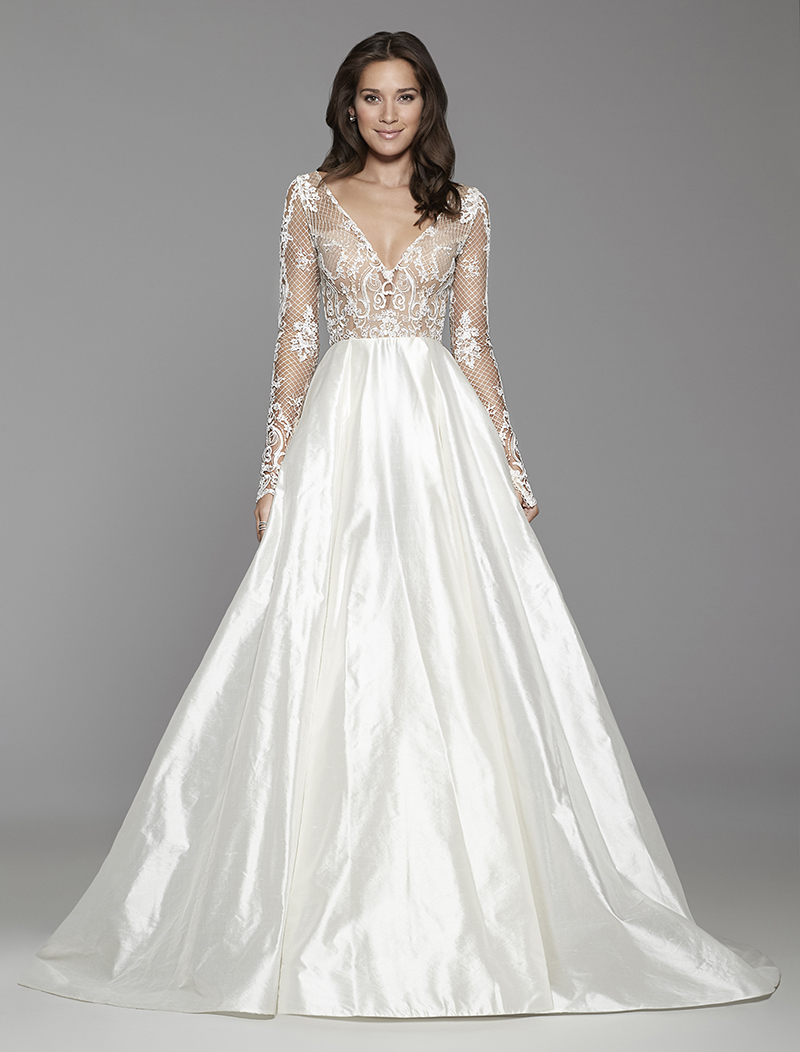 Tara Keeley Gown with Long Sleeves