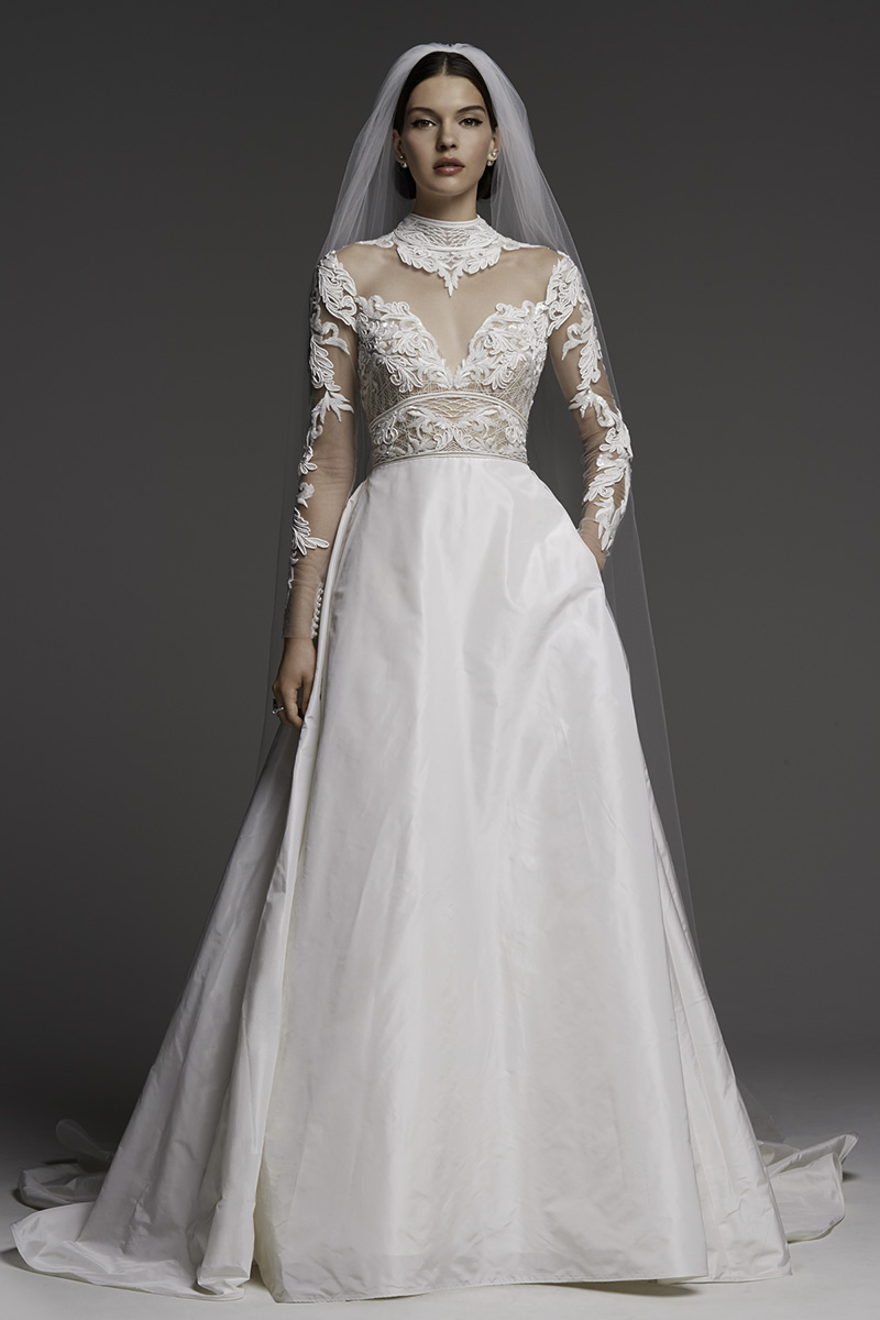Watters Wedding Gown with Long Sleeves