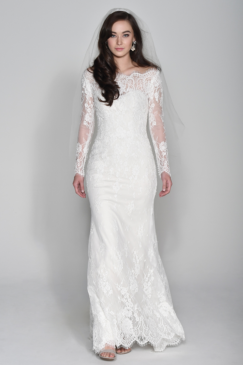 WTOO wedding gown with long sleeves