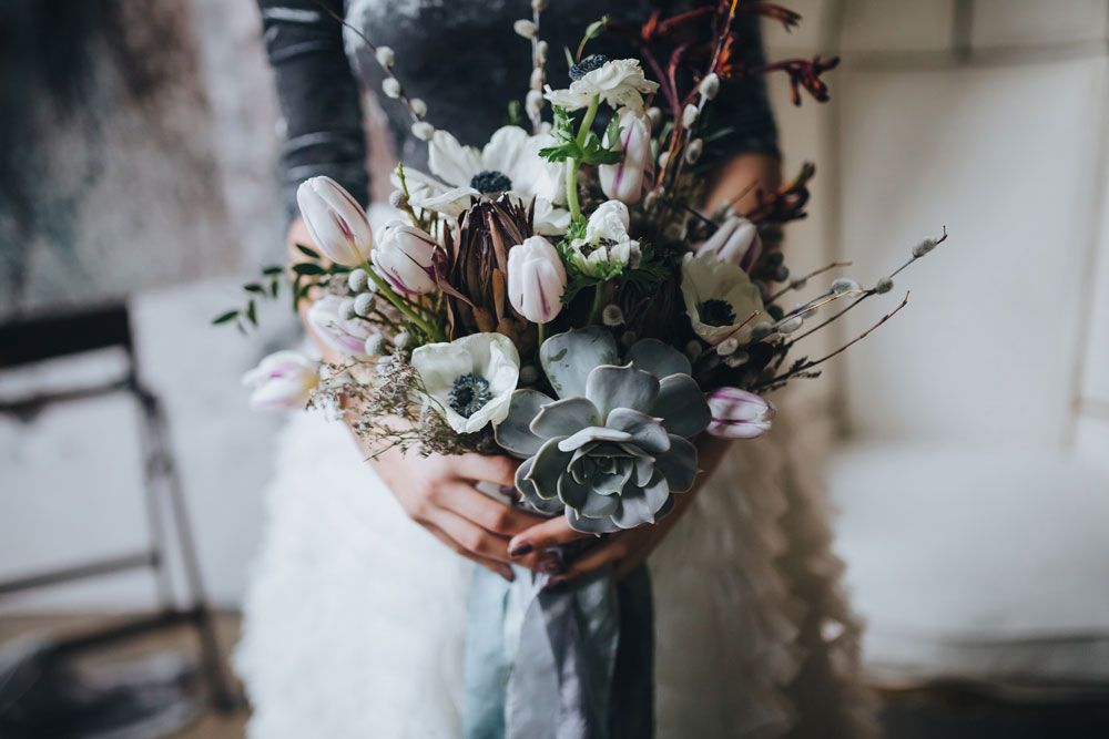 winter wedding inspiration bouquet