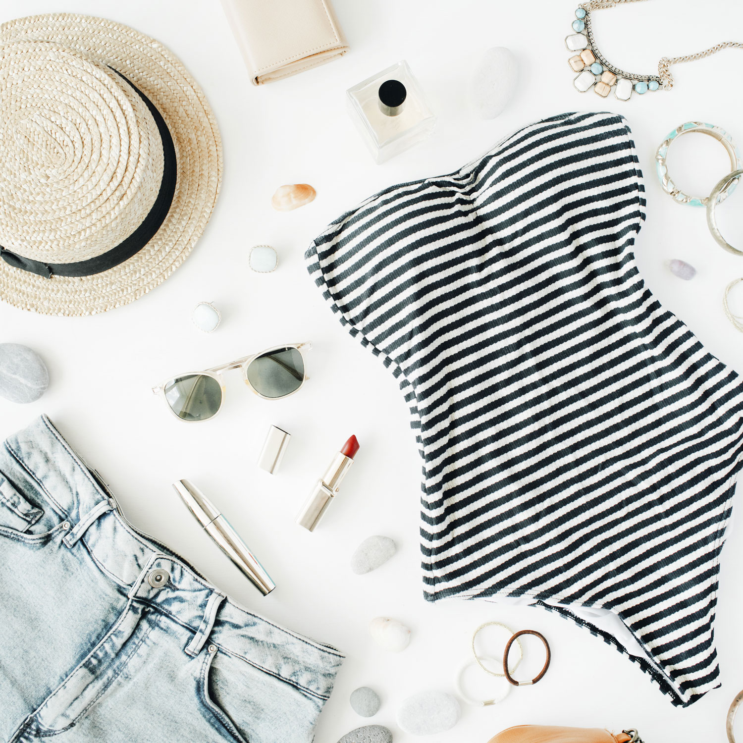 Striped one piece swimsuit - how to care for a swimsuit