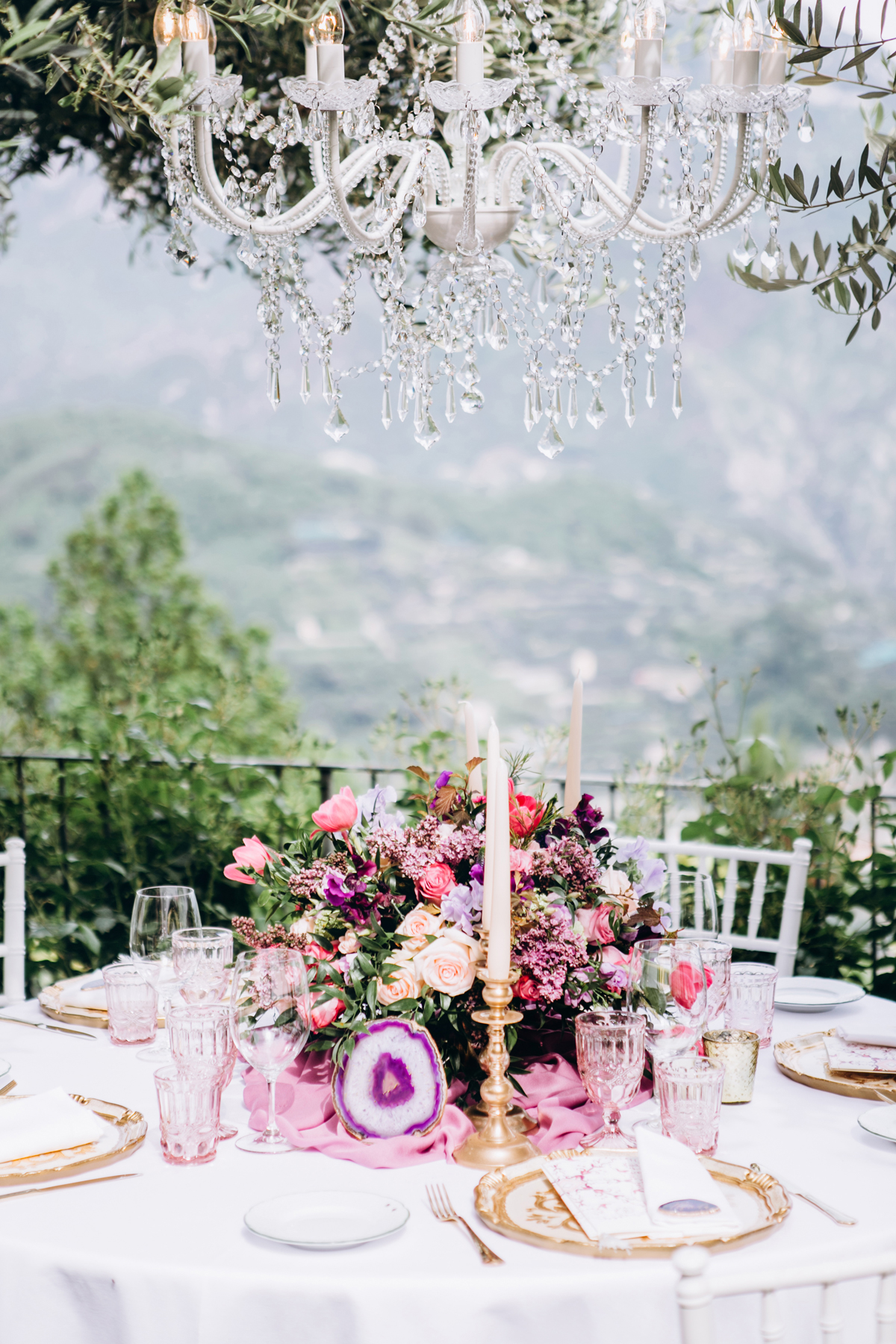 Elegant Outdoor Wedding Table Setting