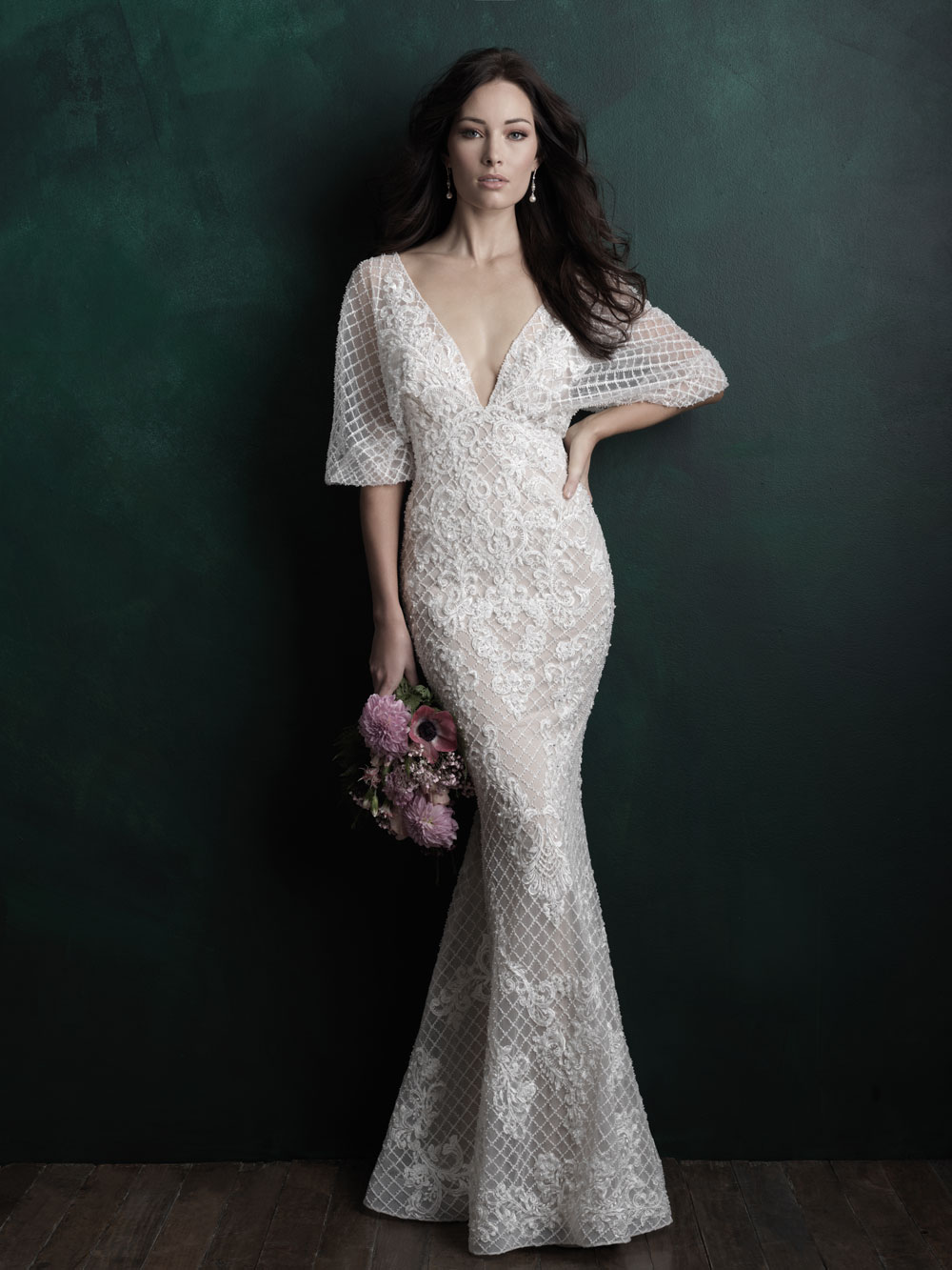 70's inspired bridal gown by Allure Bridals