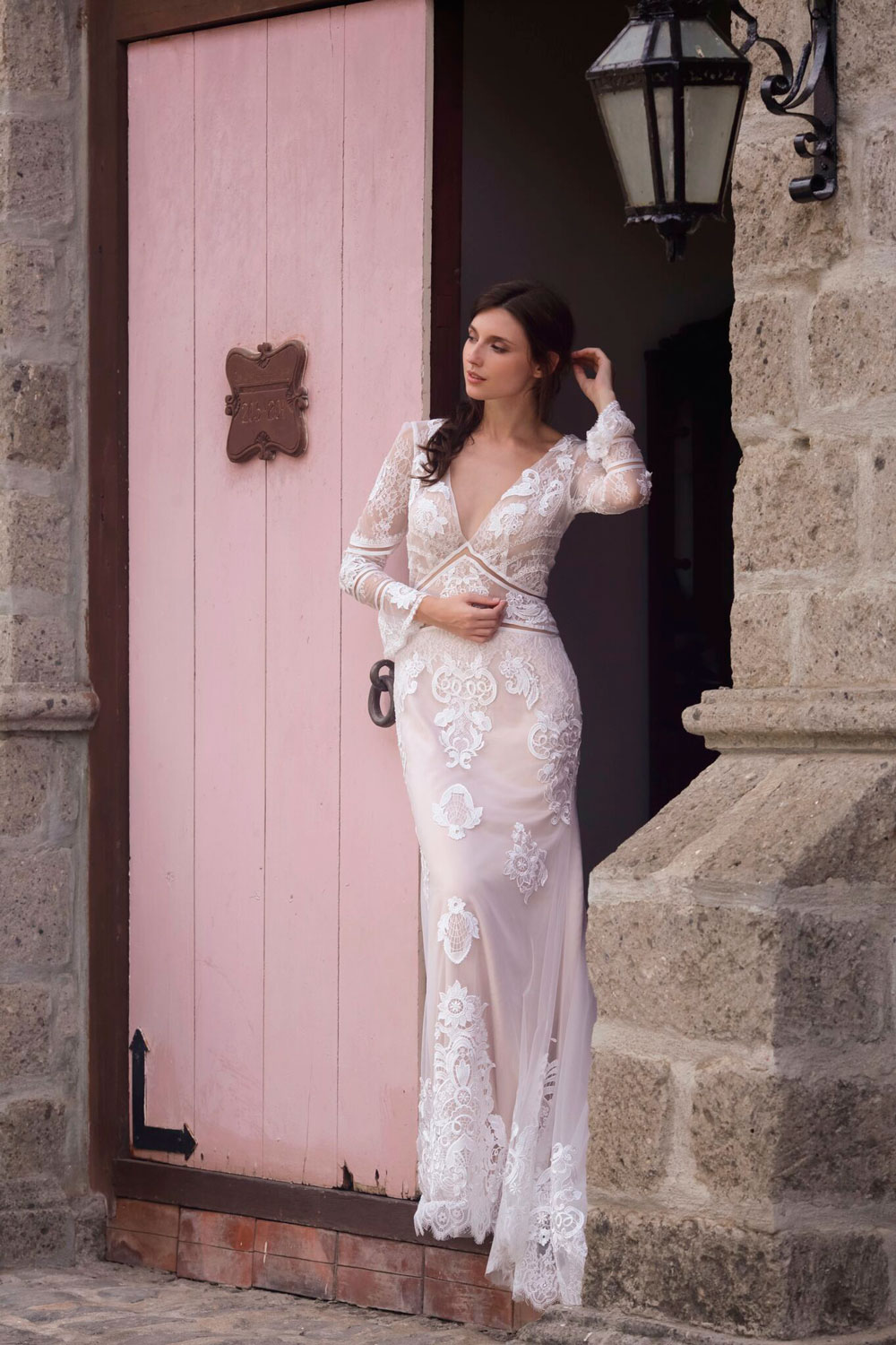 70's Inspired Bridal Gown by COCOMELODY