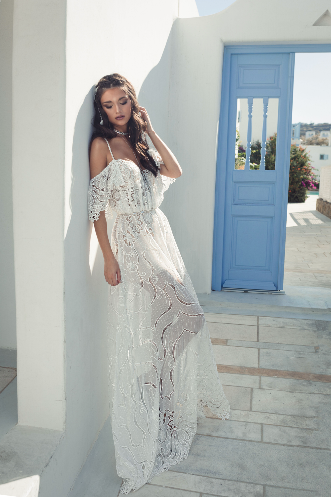 70's inspired bridal gowns by Julie Vino