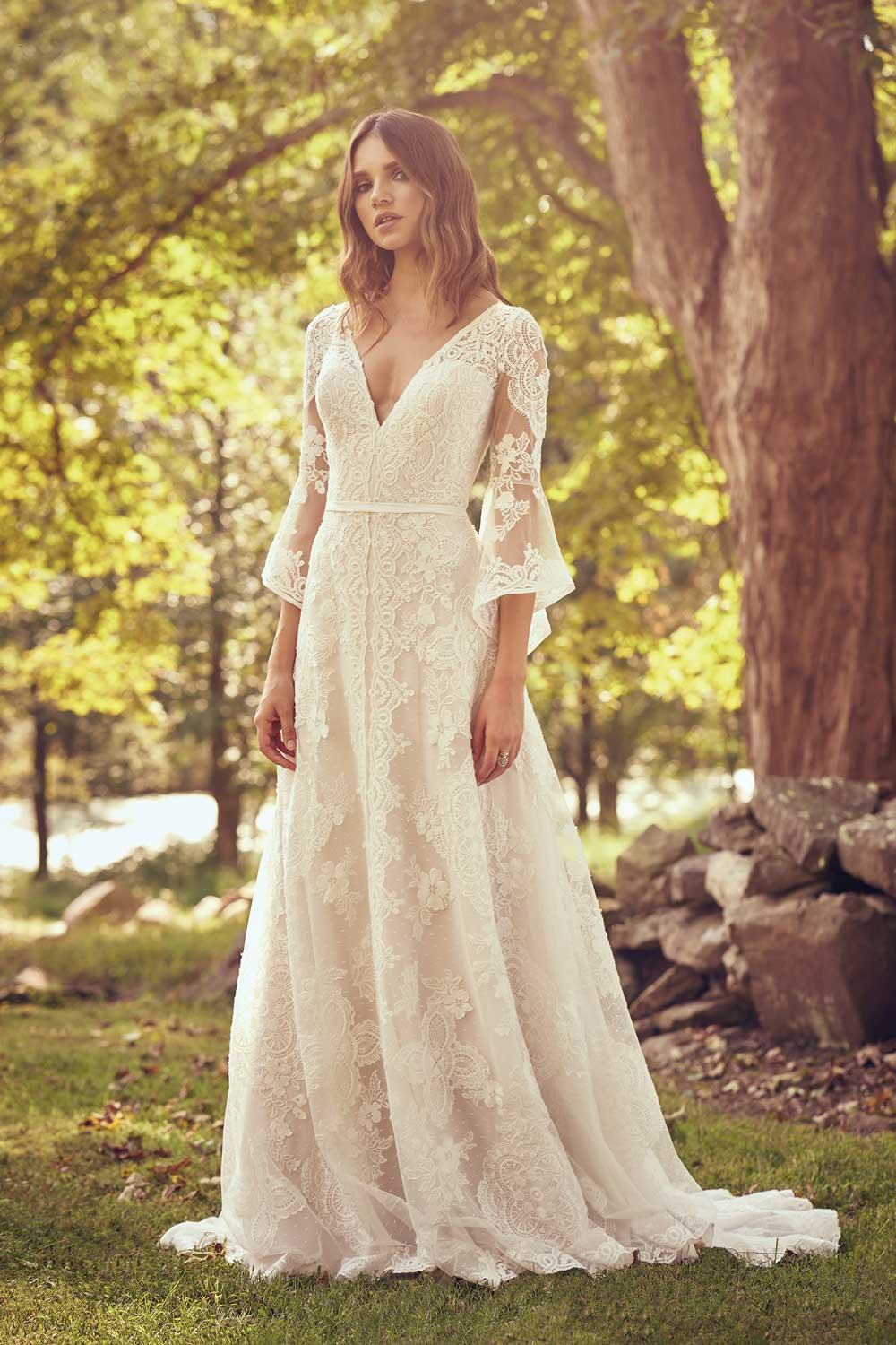 70's Inspired bridal gowns by Lillian West
