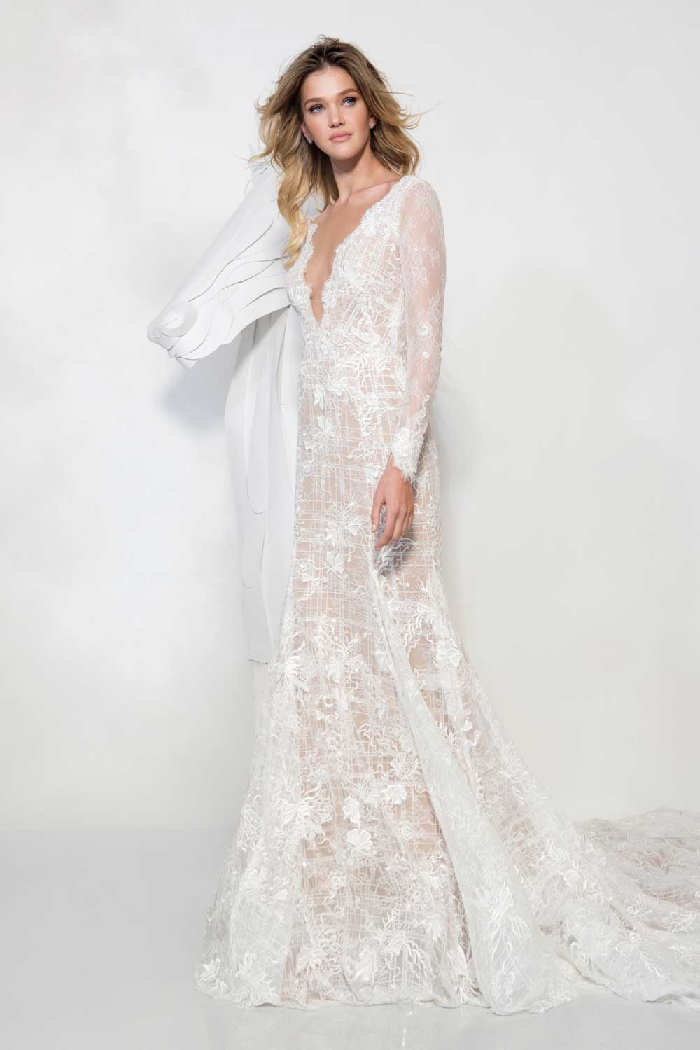 70's inspired bridal gowns by Yani Persy