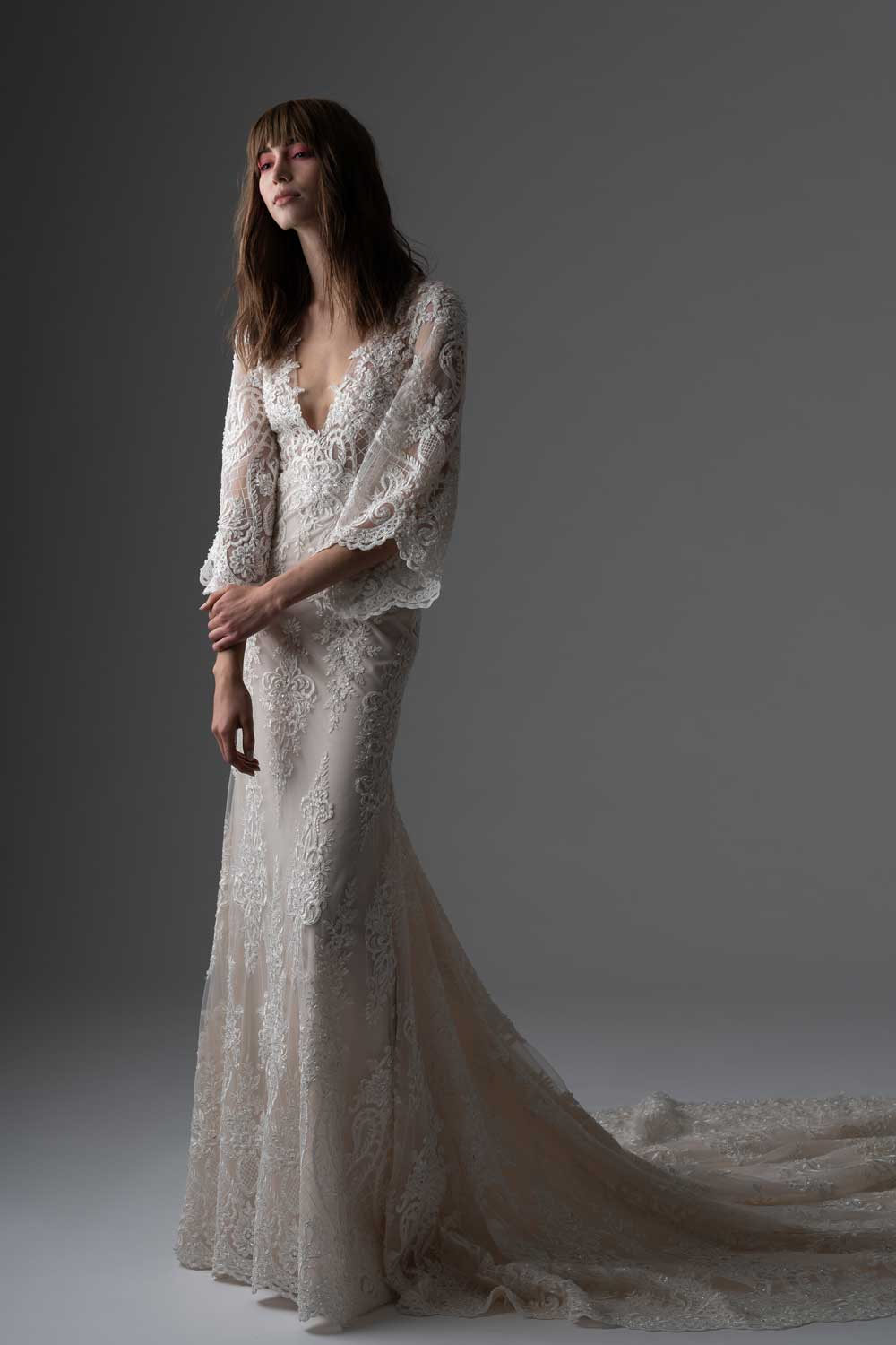 70's Inspired Bridal Gowns by Rivini